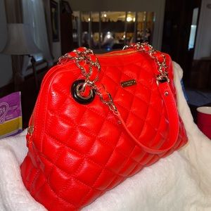 """Red Kate Spade """"Georgiana"""" Quilted Chained Bag"""